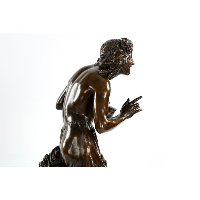 "François-Joseph Duret ""Improvisateur"" Bronze Sculpture - Image 8 of 10"