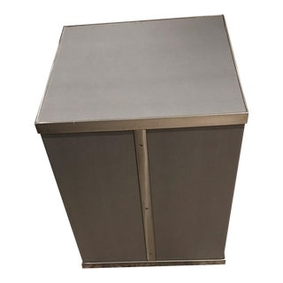 Contemporary Grey Kravet Rubell Cube Table For Sale