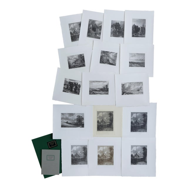 John Constable & David Lucas Mezzotint Collection From the Tate Gallery in London 1990's - Set of 16 For Sale