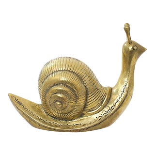 Oversize Brass Snail For Sale