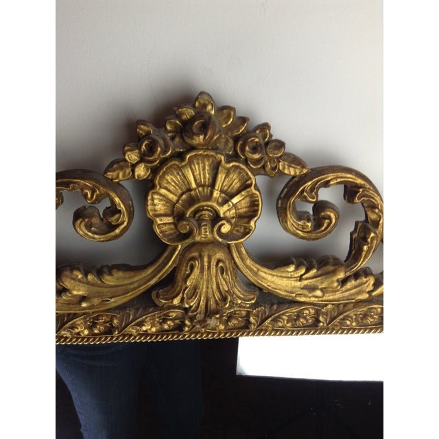 Antique Gilded Ornate Wall Mirror - Image 4 of 9