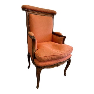 Antique French Carved Walnut Chair For Sale