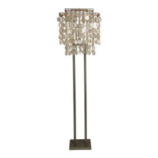 Mid Century Modern Capiz Shell Floor Lamp For Sale