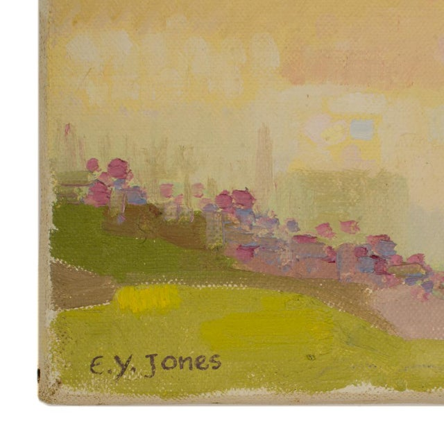 "Impressionist 19th Century ""Spring Trees"" Expressionist Landscape Oil Painting by Ernest Yarrow-Jones For Sale - Image 3 of 8"