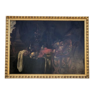 Early 19th.Century European School Still Life With Red Lobster,fruits . For Sale