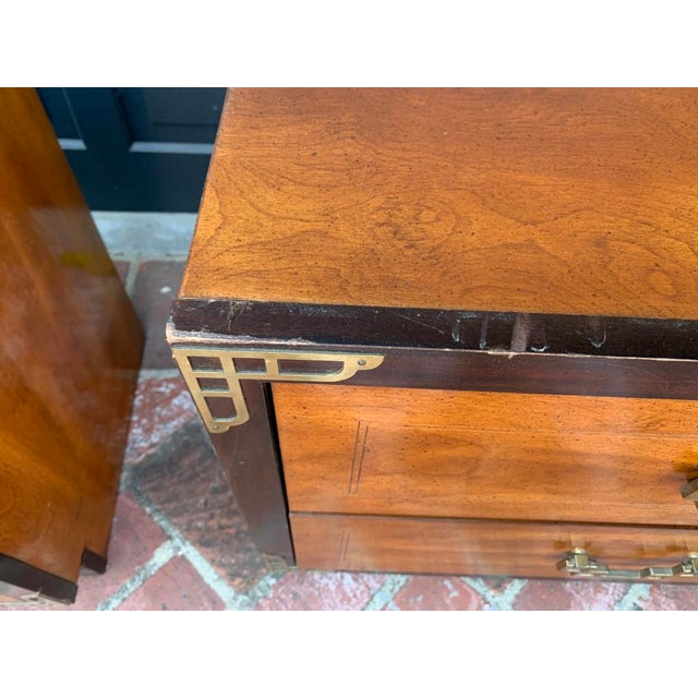 Bassett Asian Inspired Chinoiserie Nightstands - a Pair For Sale - Image 10 of 12