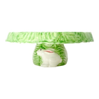 Lettuce and Rabbit Cake Plate by Lillian Vernon