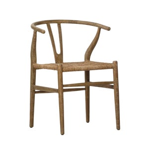 Traditional Woven Oak Chair For Sale