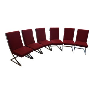 Milo Baughman Chrome 'Z-Dining Chairs' for Design Institute of America - Set of 6 For Sale
