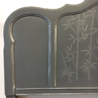 1960s Contemporary Gray Hand Painted Full Size Headboard Preview