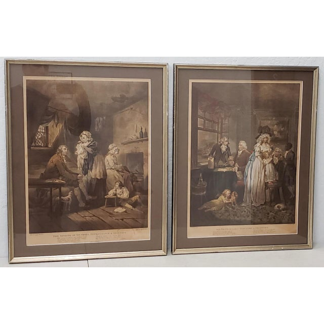 18th Century George Morland Hand Colored Mezzotints Published by T. Simpson, London 1789 For Sale - Image 13 of 13