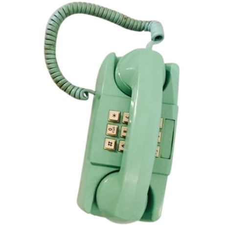 Light Teal 1975 GTE Starlite Push Button Phone - Image 1 of 6
