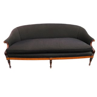 Sheraton Style Upholstered Settee For Sale