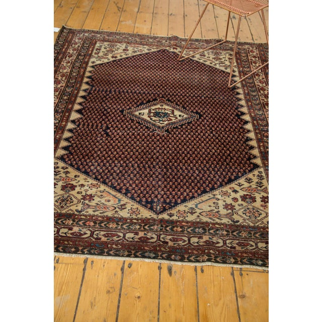 "Vintage Mission Malayer Square Rug - 5'5"" x 6'7"" For Sale - Image 10 of 10"