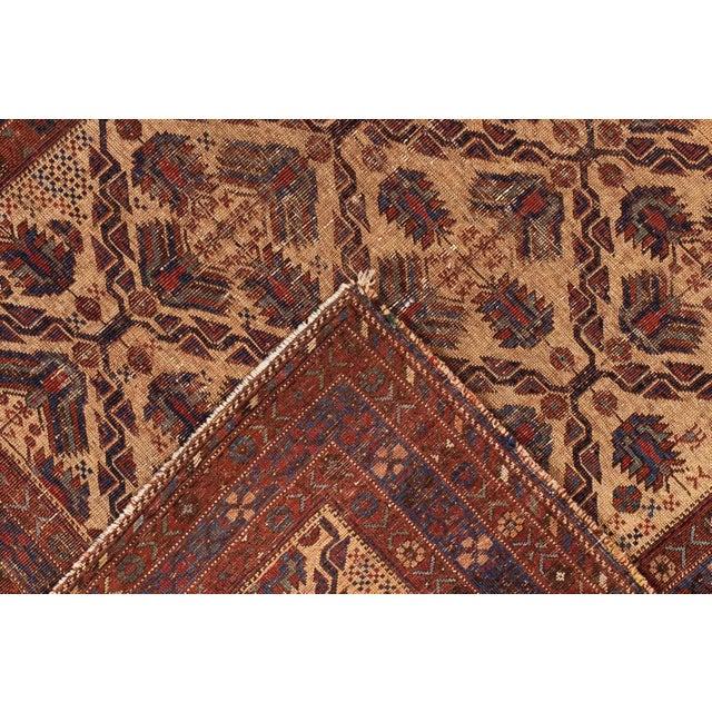 Antique Square Persian Afshar Handmande Wool Rug For Sale - Image 4 of 7