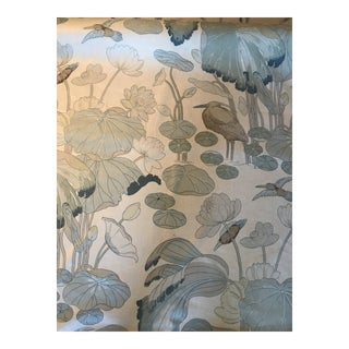 Traditional Lee Jofa Nympheus Print Fabric in Linen - 5 Yards For Sale