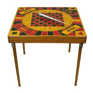 Vintage Mid-Century Modern Monte Carlo 5 in 1 Folding Game Table For Sale