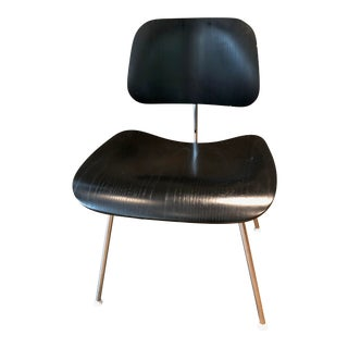 Eames Molded Black Plywood With Metal Base Dining Chair