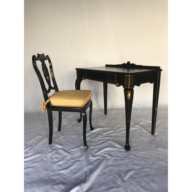 French Chinoiserie Style Writing Desk and Chair Set - Image 8 of 8