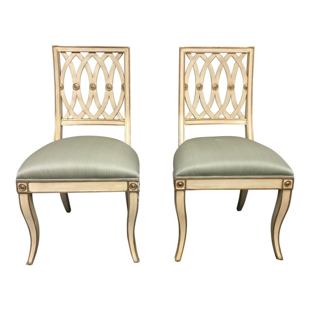 Horchow Maitland-Smith Pillar Chairs - a Pair For Sale