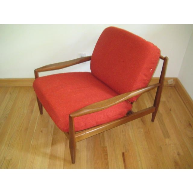 Wood Mid-Century Danish Modern Lounge Chair For Sale - Image 7 of 7