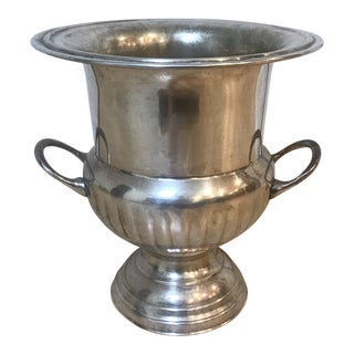 Traditional Silver Plated Champagne Bucket For Sale