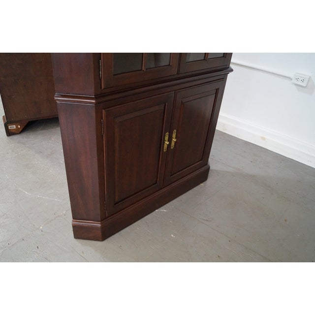 Ethan Allen Georgian Court Cherry Cabinets - Pair - Image 7 of 10