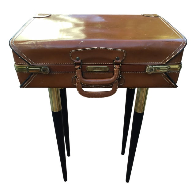 Vintage Suitcase Side Table - Image 1 of 7