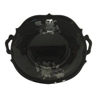 Fenton Black Handled Dish For Sale