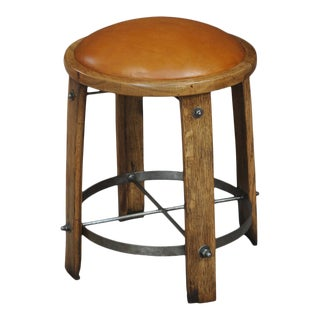 Sarreid Lt. Wine Barrel Staves Stool For Sale