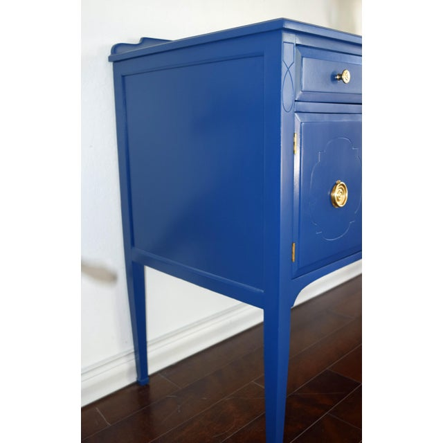 Modern Antique Cherrywood Navy Blue Buffet For Sale - Image 3 of 12