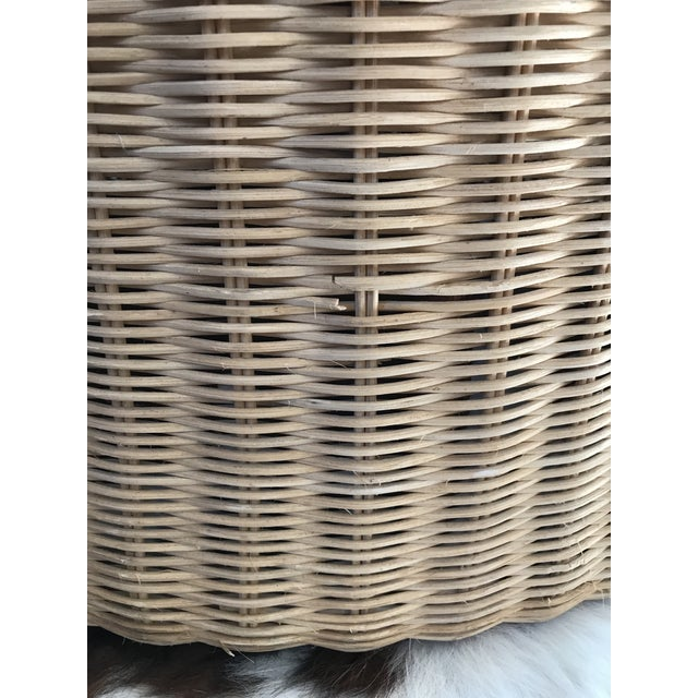 Eero Aarnio Mid Century Modern Wicker Lounge Chair and Ottoman For Sale - Image 10 of 11