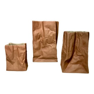 1970s Rosenthal Studio Line Tapio Wirkkala Brown Paper Bag Vase - Set of 3 For Sale