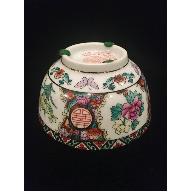 Chinoiserie Hand Painted Chinoiserie Bowl For Sale - Image 3 of 9
