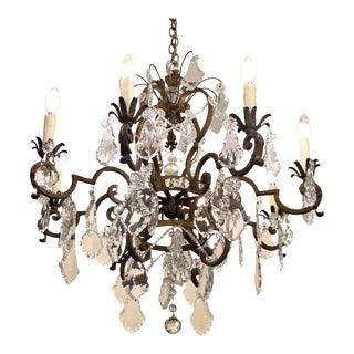Exquisite Paul Ferrante Beaded & Crystal Chandelier For Sale
