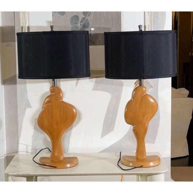 Fantastic Sculptural Pair of Heifetz Lamps For Sale - Image 9 of 10