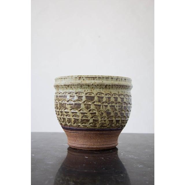 Textured Stoneware Garden Pot - Image 2 of 8