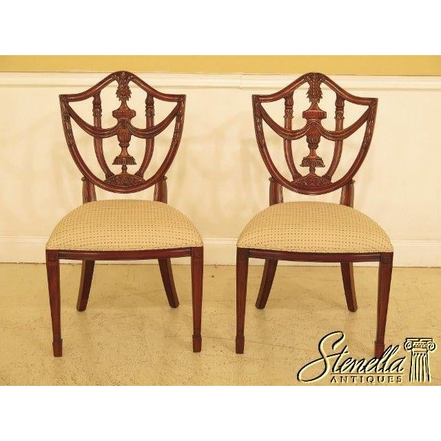 Maitland Smith Carved Mahogany Dining Room Chairs - a Pair