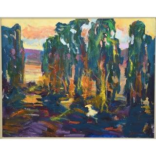 Ojai California Impressionist Landscape Painting by Juan Guzman Preview
