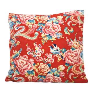 Chinese Bird Floral Pillow