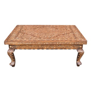 Inlaid Anglo-Indian Bajot Table For Sale