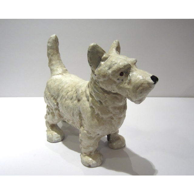 Cast Iron Cast Iron West Highland Terrier Doorstop For Sale - Image 7 of 9