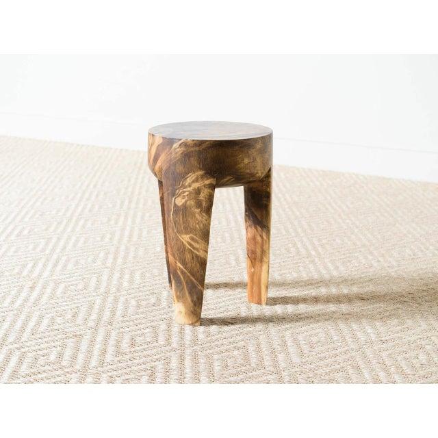 2010s Wila Mango Wood Stool For Sale - Image 5 of 5