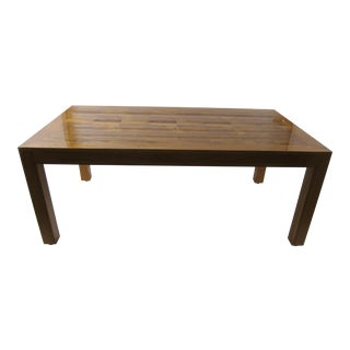 Mid-Century Modern Parquet Myrle-Wood Dining Table by Ray See For Sale