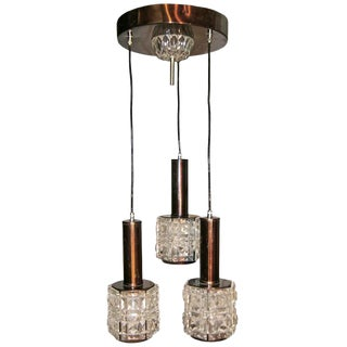 Italian Cut Glass Chandelier For Sale