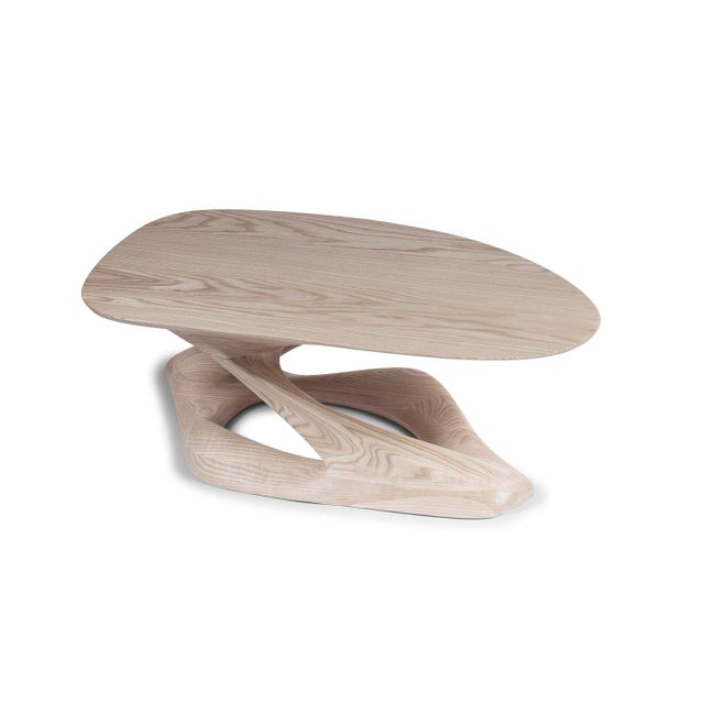 Amorph Plie´ Coffee Table, Natural Stained For Sale In Los Angeles - Image 6 of 10