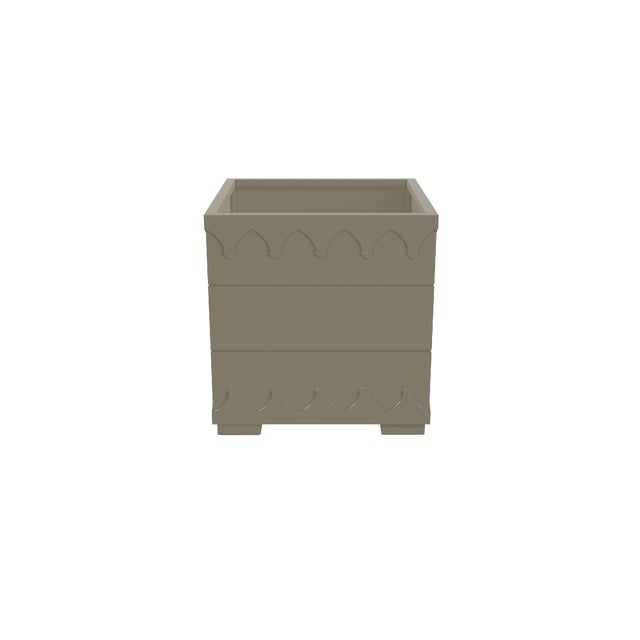 Oomph Oomph Ocean Drive Outdoor Planter Small, Taupe For Sale - Image 4 of 5