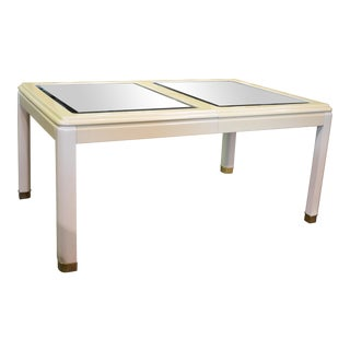 Vintage Milano by Stanley Mirror Top Dining Room Table For Sale