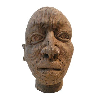 African Yoruba Ice Clay Head Nigeria For Sale