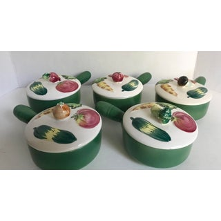 Vintage Mid-Century Vegetable Motif Lidded Dishes - Set of 5 Preview